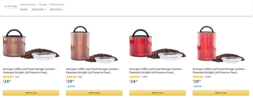 Amazon Store example