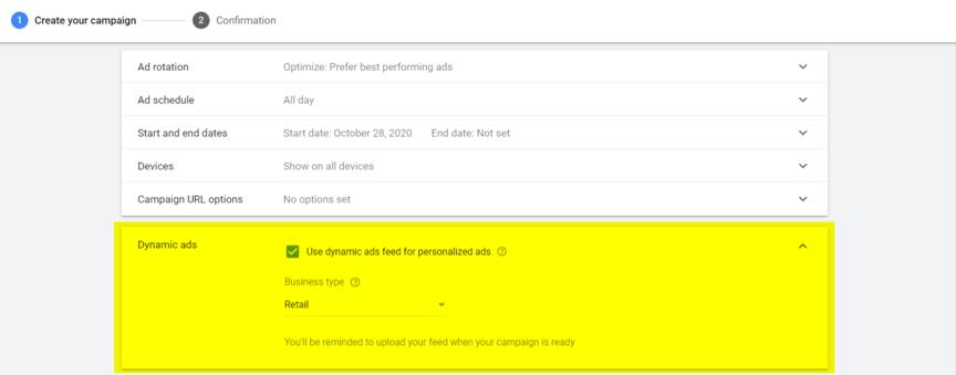 Google动态再营销设置