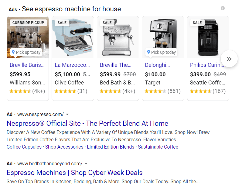 SEM in search results