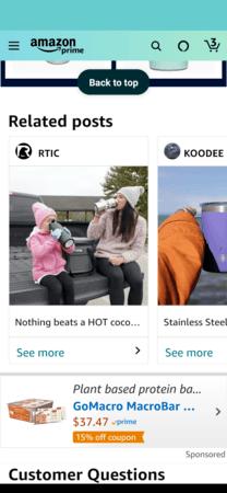 Amazon Posts example: RTIC