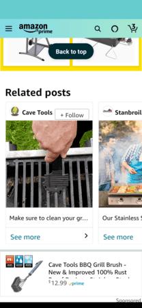 Amazon Posts example: Cave Tools