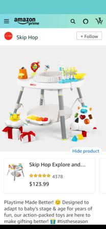 Amazon Posts example detail: Skip Hop