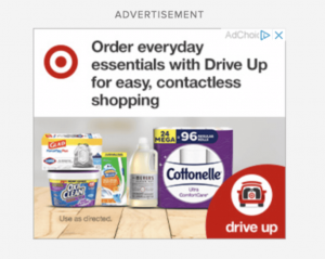 display ad for Target