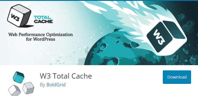 W3 Total Cache plugin page on WordPress