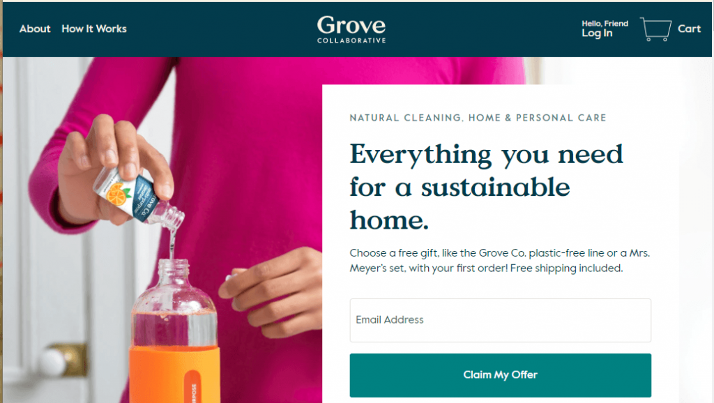 Barrier to Grove.co membership to access their website