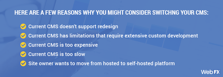 you should consider switching your cms if