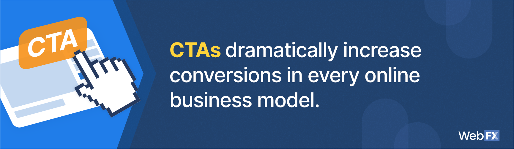 A graphic for the impact of CTAs in web design