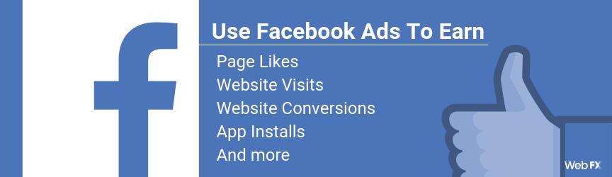 A list of Facebook advertising goals