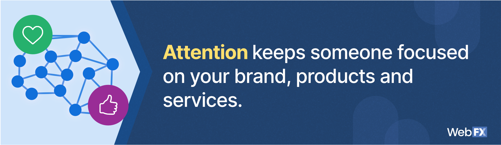 The definition of attention in web design