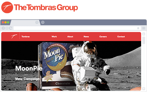 Tombras Group web sitesinin başlığı
