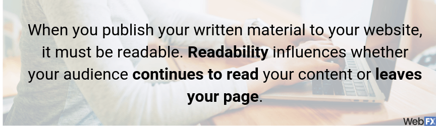 you have to make sure your seo content is readable