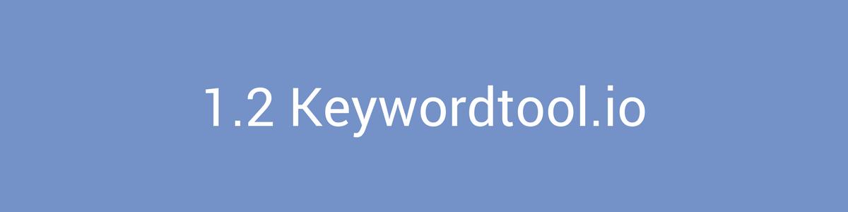 Keyword Research Keywordtool.io