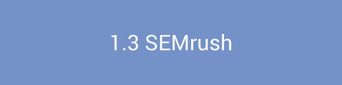 Keyword Research SEMrush