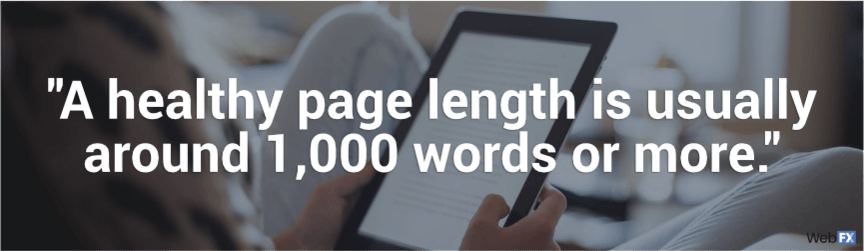 a healthy page length is around 1,000 words