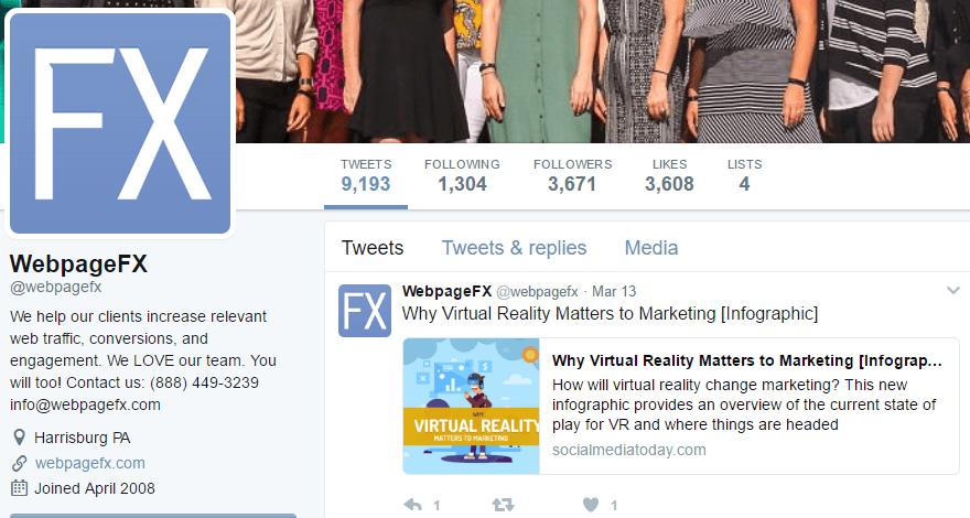 Social Media Marketing Twitter Example