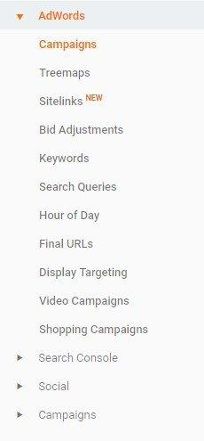 adwords in analytics