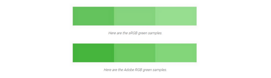 A comparison of SRGB and RGB colors
