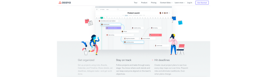 A screenshot of Asana, a project management software