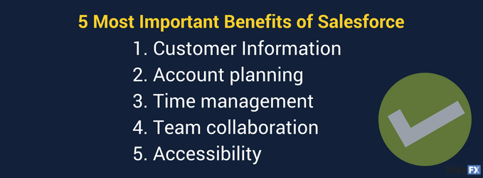 the benefits of using salesforce