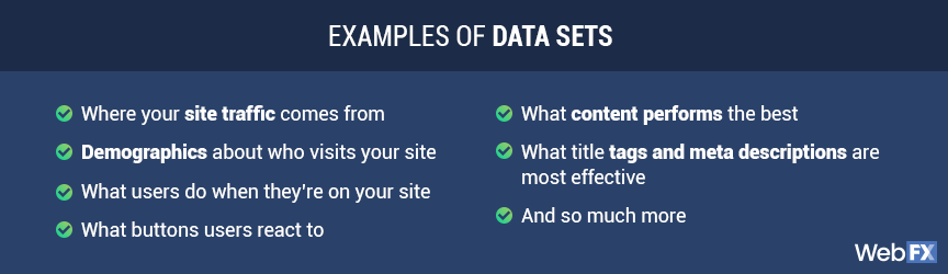 examples of data sets