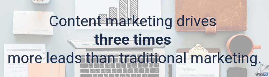 content marketing drives three timre more leads than traditional marketing