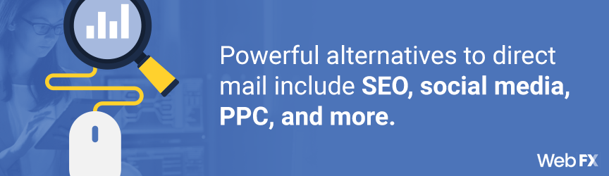 A list of alternatives to direct mail marketing