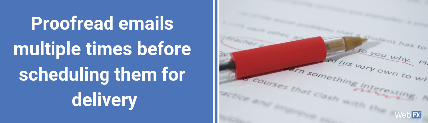 A proofreading tip for email marketing