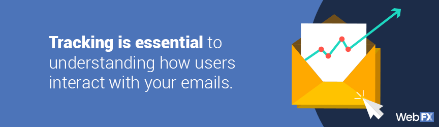 tracking is essential to understanding how users interact with your emails