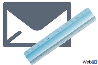 email with ruler