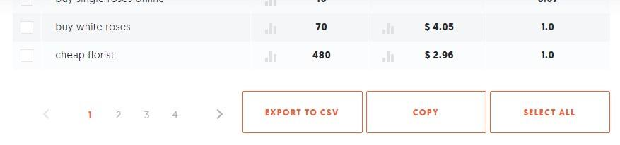export to csv button