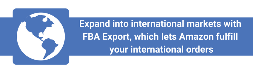 What FBA Export does for Amazon sellers