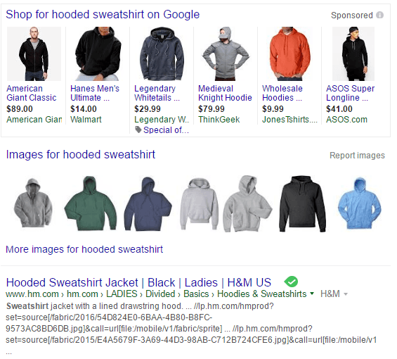 Google Search Results for Hooded Sweatshirt