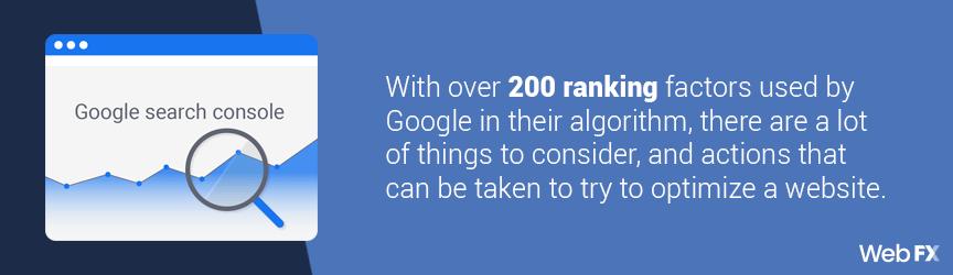 over 200 ranking factors