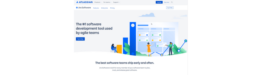 A screenshot of Jira, a project management software