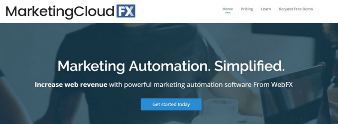 screenshot of marketingcloudfx