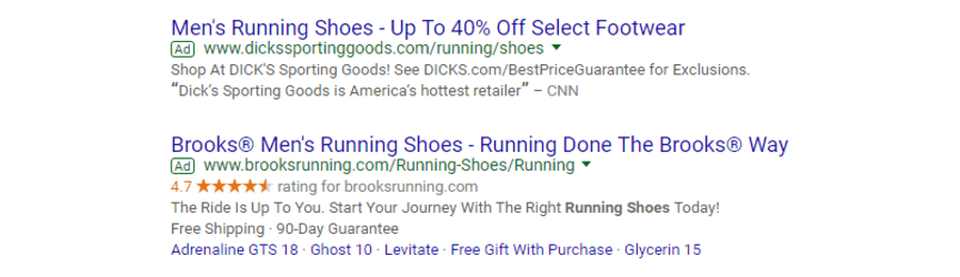example of ppc ads in google