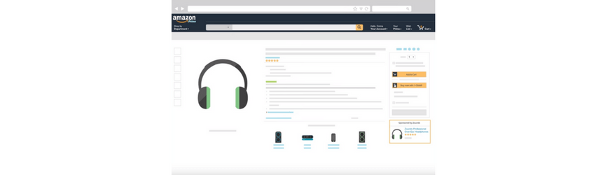 The location and appearance of Product Display Ads on Amazon
