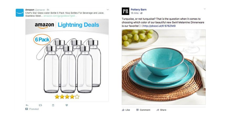amazon and pottery barn product social media post