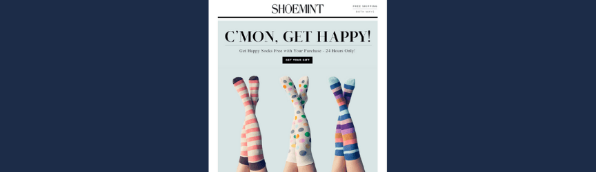 A promotional email example from ShoeMint