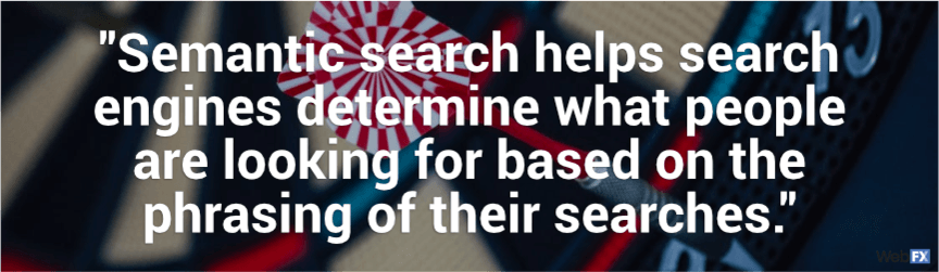 semantic search helps search engines determine what people are looking for