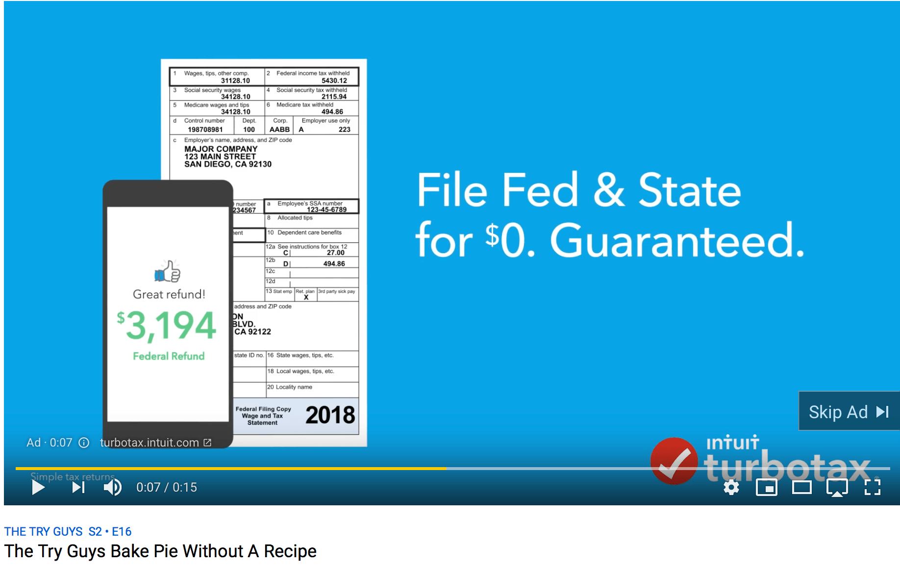 example of skippable youtube ad
