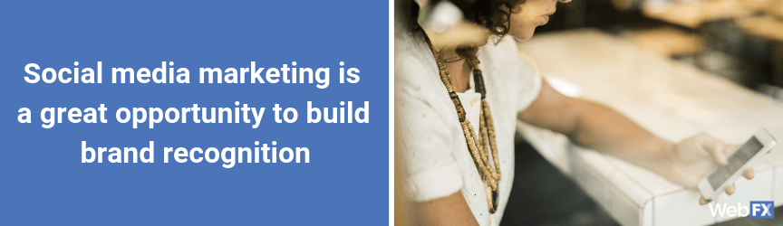 A statement on how social media marketing can build brand recognition