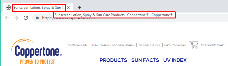 search for sunscreen spray