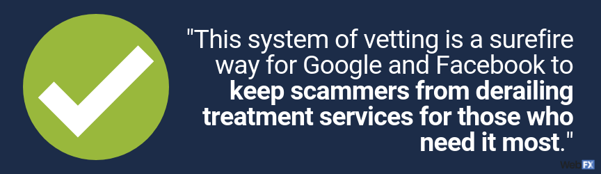 this system of vetting keeps scammers from derailing treatment