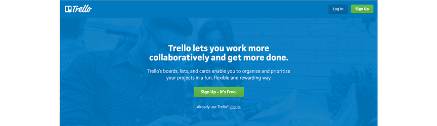 A screenshot of Trello, a project management software