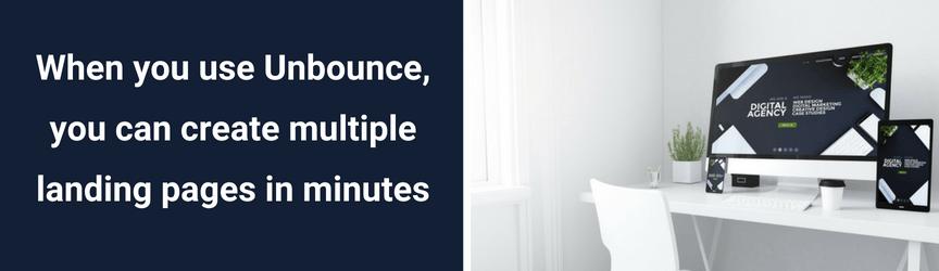 How long it takes to create a landing page in Unbounce