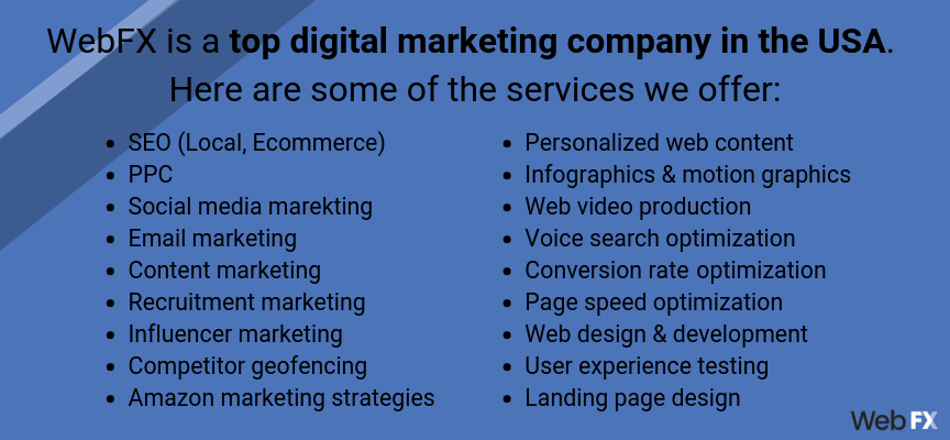 Top Digital Marketing Companies in USA | Why WebFX Tops the List