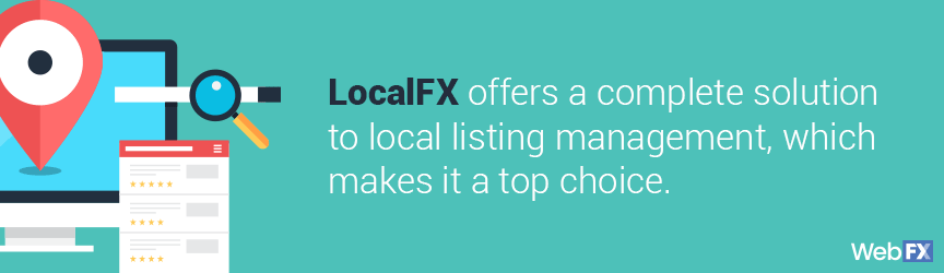 Definition of LocalFX, a local listing management tool
