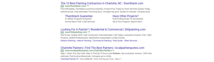 ppc ad for charlotte nc business