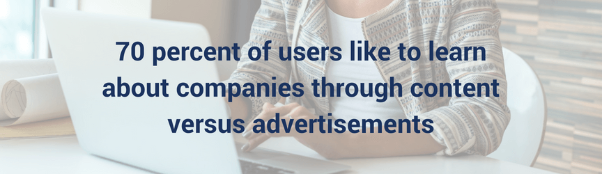 A statistic on user preferences for company-created content versus advertisements